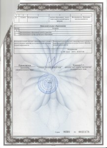 Приложение к бессрочной лицензии